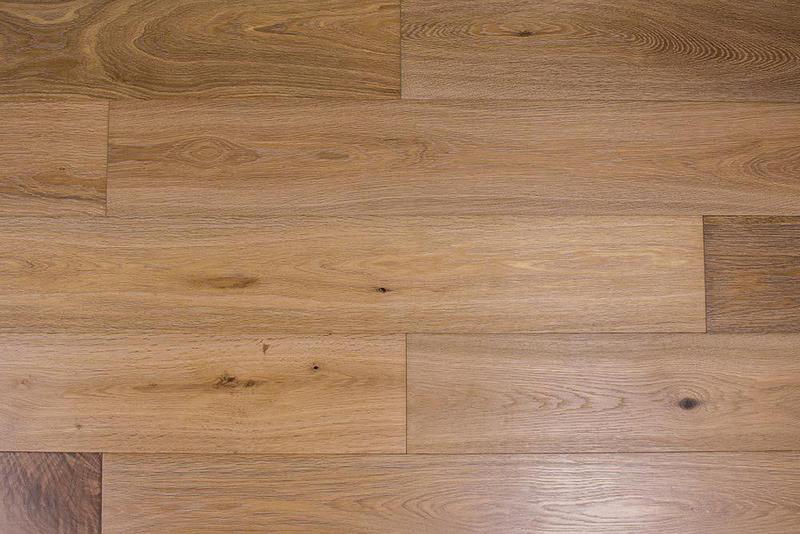 Vivara By Envara Floors Bright Umber 7.5xfree length, Wire-Brushed, European-Oak, Engineered-Hardwood, Wood