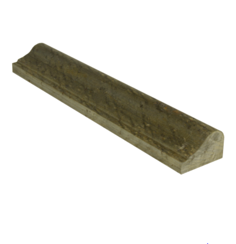 Gold Green Standard Quartzite Trim 2x12 Honed    Chair Rail