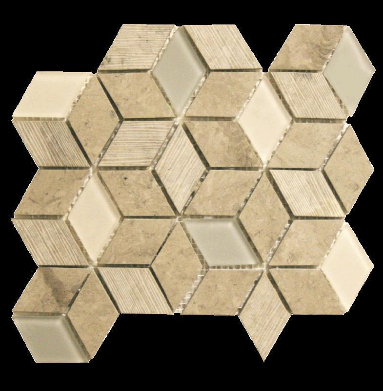 Bennelong Point Cube Thala Grey Honed, Mixed, Mosaic