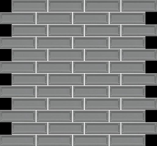 Roxy Hematite 1x3 Brick  Ceramic  Mosaic