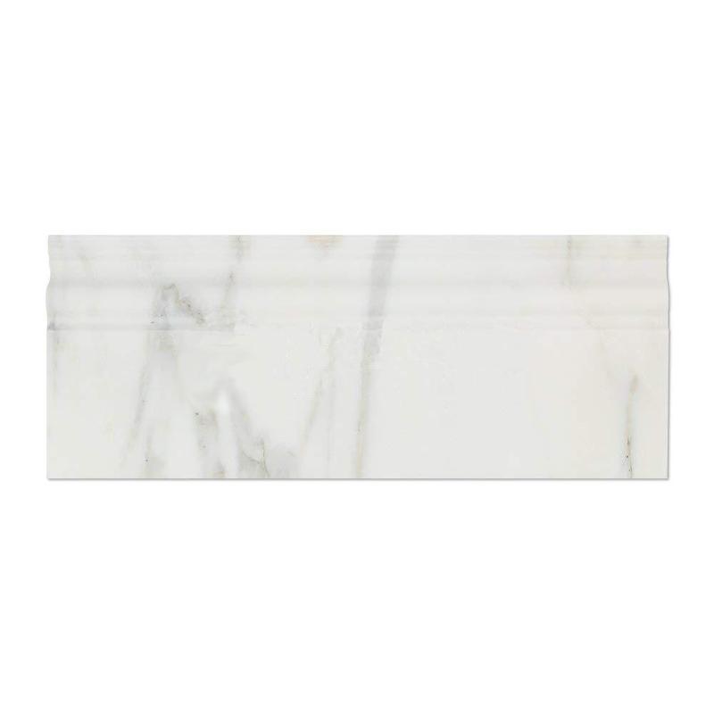 Oriental White Marble Trim 4x12 Polished    Baseboard