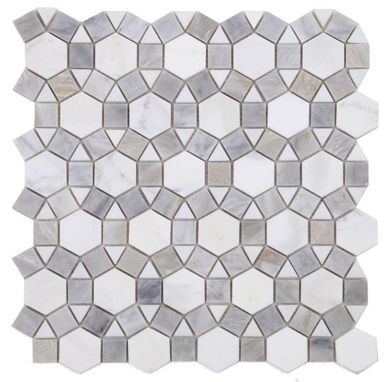 Aether Dusk Circular Polished Marble  Mosaic