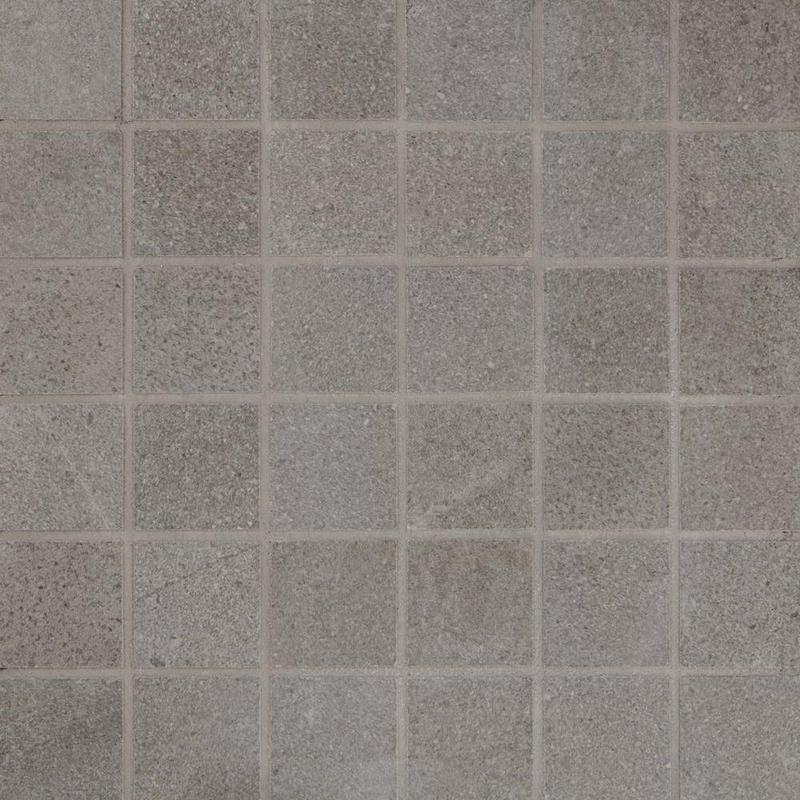 Pietra Italia Black 2x2, Standard, Square, Through-Body-Porcelain, Mosaic