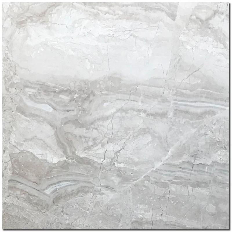 Breccia Bianco Marble Tile 18x18 Honed