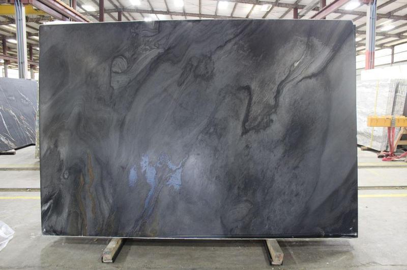 Granite Black Fantasy Cc 57x120 0.75 in Leather  Slab