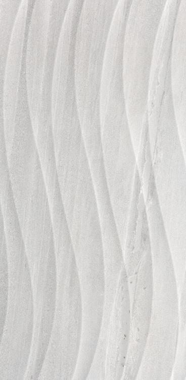 Sand Stone Flow Deco Light Grey Glazed 12x24 Porcelain  Tile