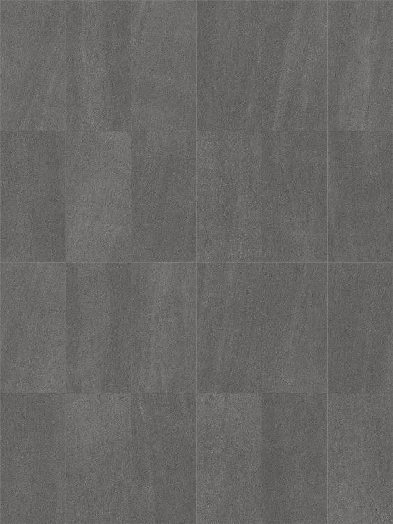 Basalt Graphite Unglazed, Chiseled 12x24 Porcelain  Tile