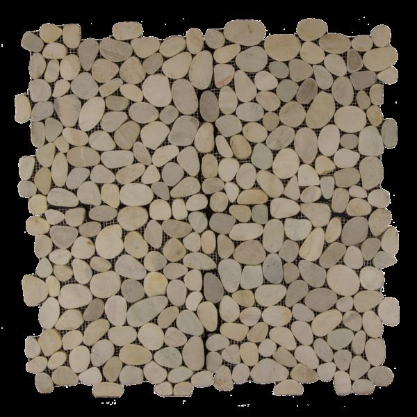 Pebble Mosaics Flat Matte White Mosaic