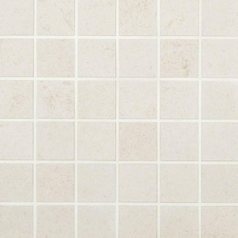 Porcelain Tiles Dimensions Glacier 2x2, Matte, Light Grey, Square, Full-Body-Porcelain, Mosaic