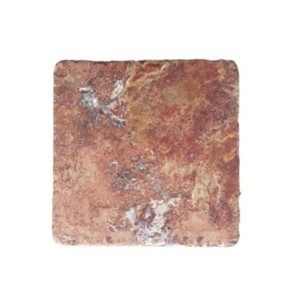 Red Travertine Tile 6x6 Tumbled