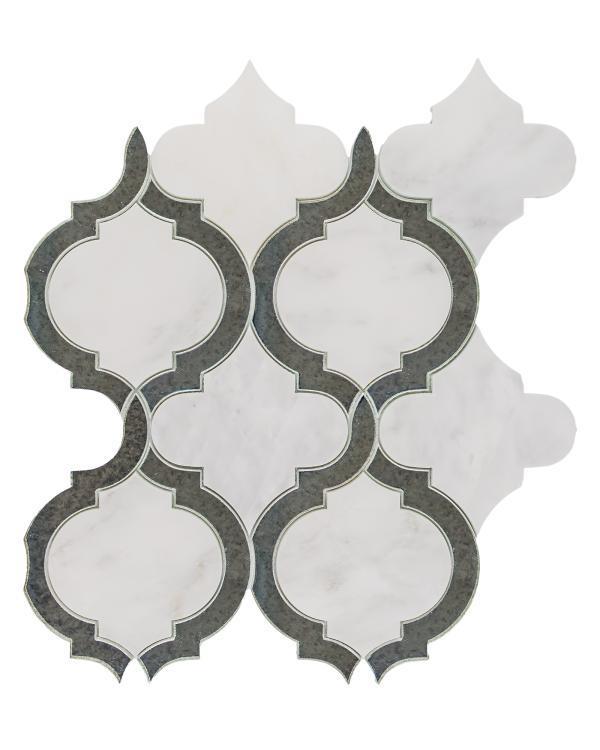 Alice Mirror Arabesque Glass   Mosaic