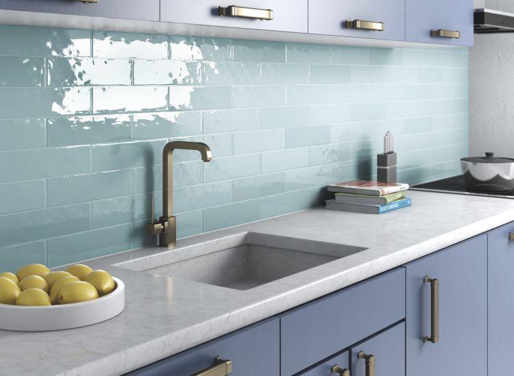 Elysium Tiles - Villa Rica Sky Blue 3x12 Ceramic  Tile