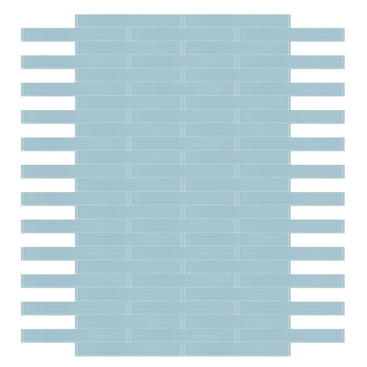 Large Glass Tile Mia Blue Subway Glossy   Mosaic