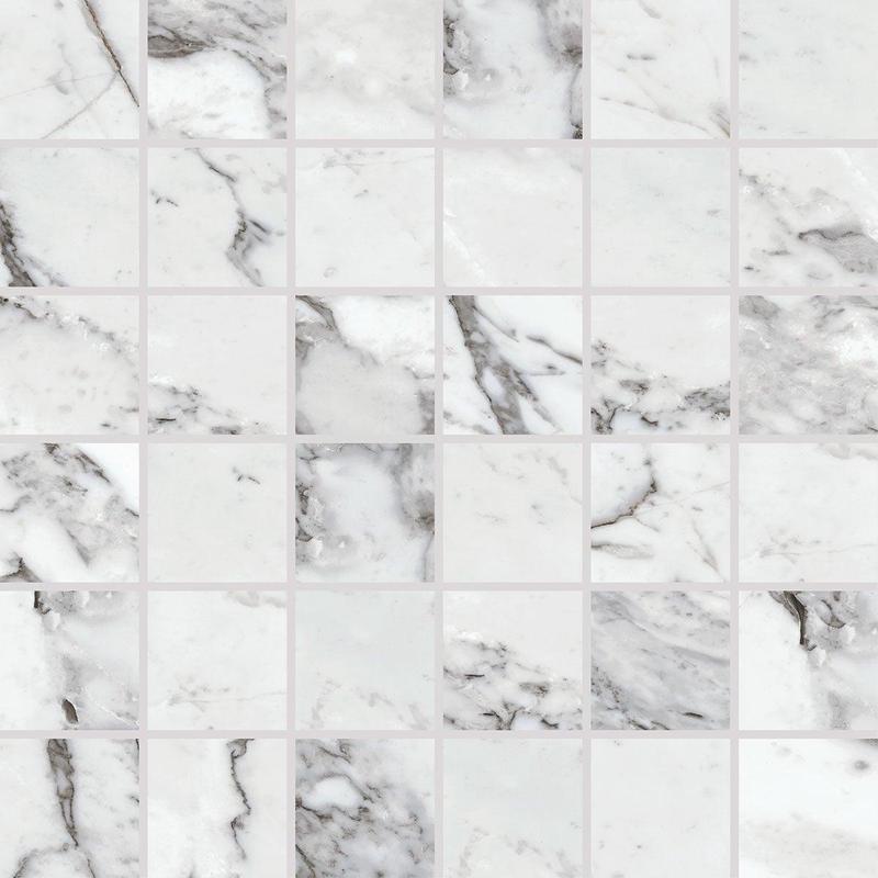Marble Attache Lavish Pearl Arabesque 2x2 Square Matte Color Body Porcelain  Mosaic