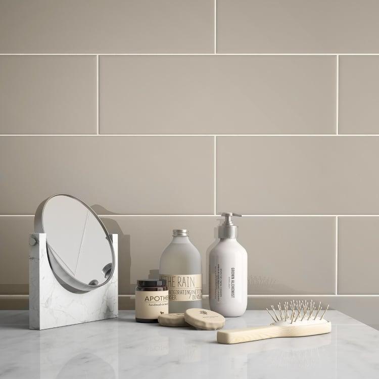 Bare Gray 4x16, Glossy, Ceramic, Tile