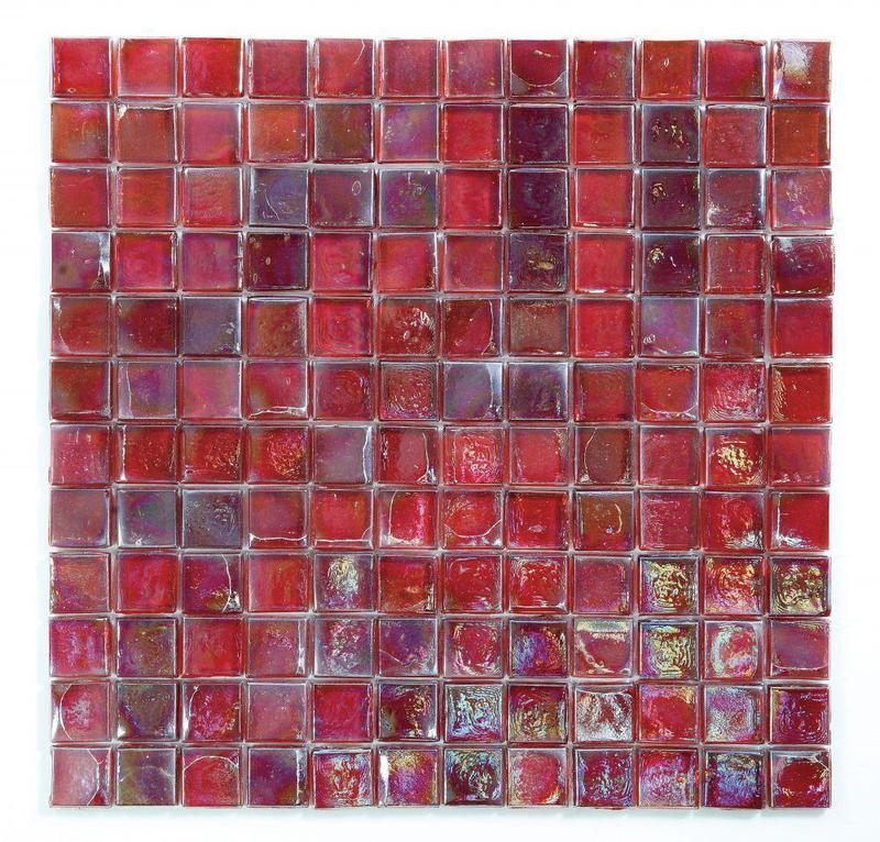 Laguna Burgundy 1x1 Square  Glass  Mosaic