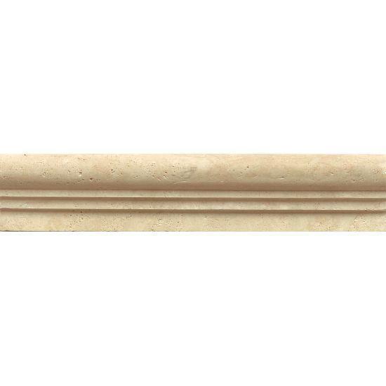 Beige Travertine Trim 2x12 Honed   1.2 in V Cap