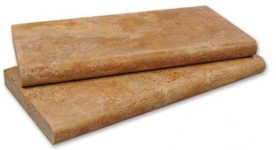 Golden Sienna Travertine Coping 12x24 Tumbled   3 cm  (Discontinued)