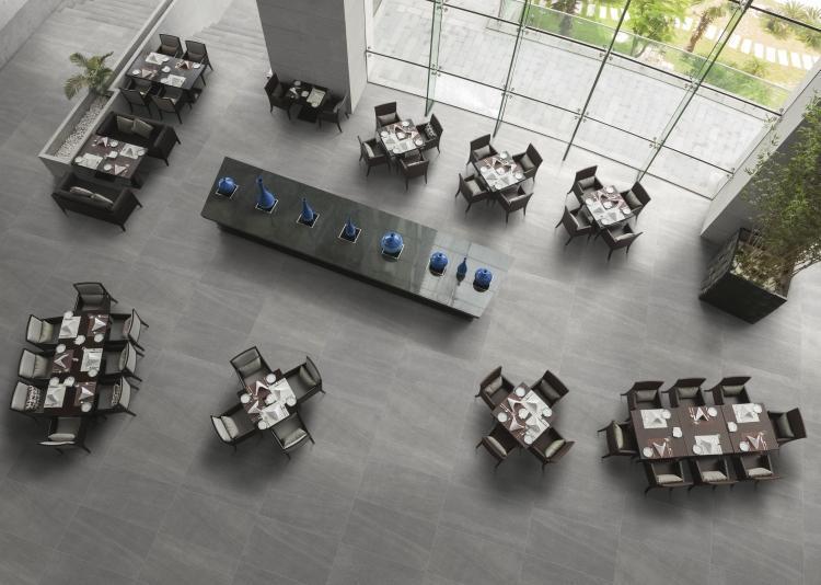Basalt Grey Matte, Unglazed 24x48 Porcelain  Tile