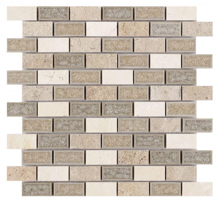 Jewel Swiss Brick 1x2   Glass  Mosaic
