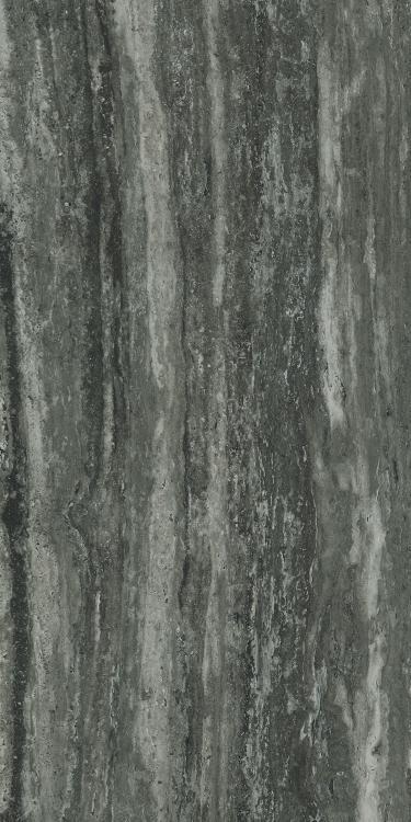 I Travertini Black Glossy 24x48 Porcelain  Tile