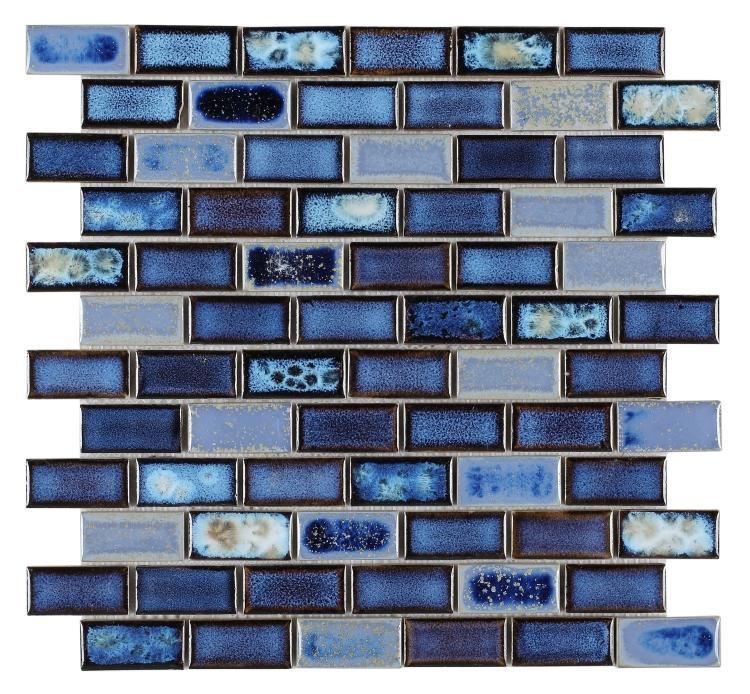 Hulu Royal Blue Brick  Porcelain  Mosaic