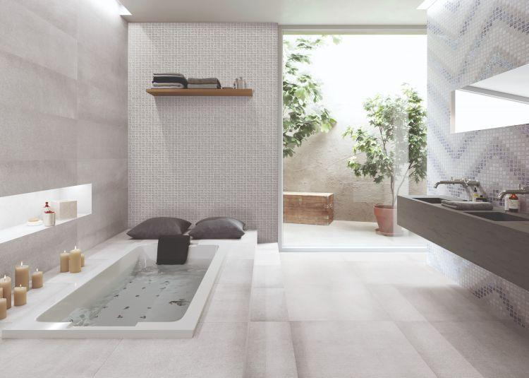 Elevation Grey Matte, Glazed 24x24 Porcelain  Tile