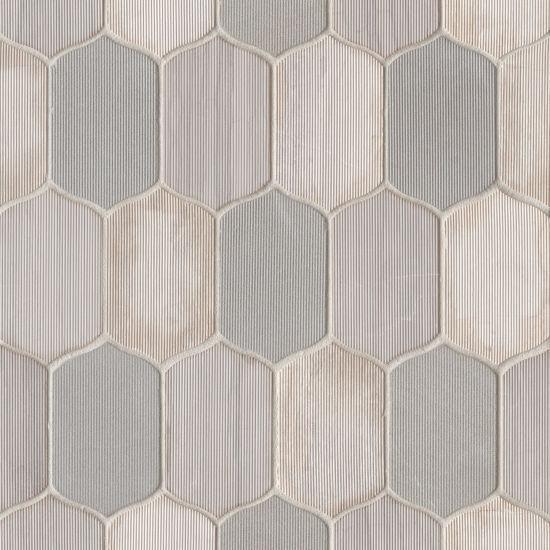 Luxembourg Paris Lily Matte, Blend, Teardrop, Marble, Mosaic