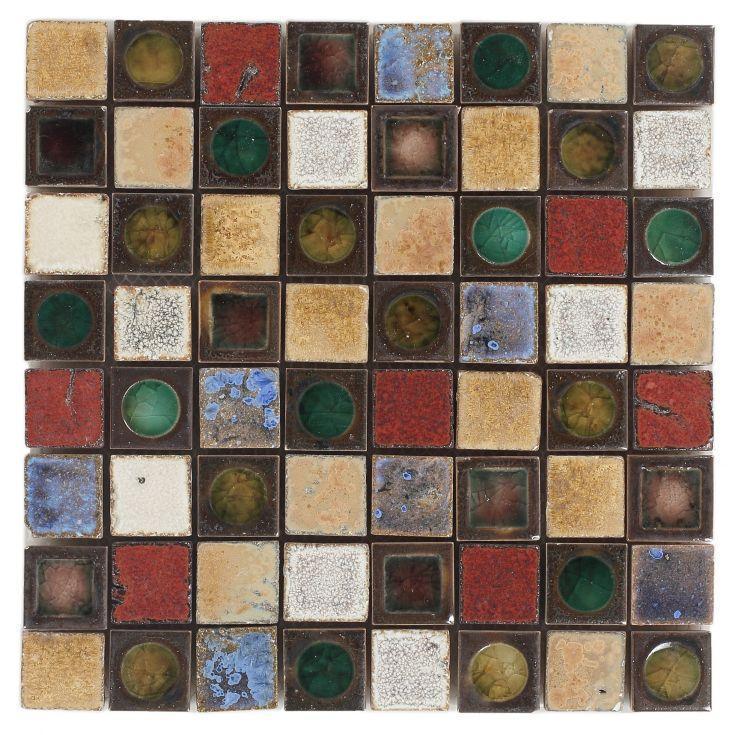 Roman Salsa 1.5x1.5 Square  Porcelain  Mosaic