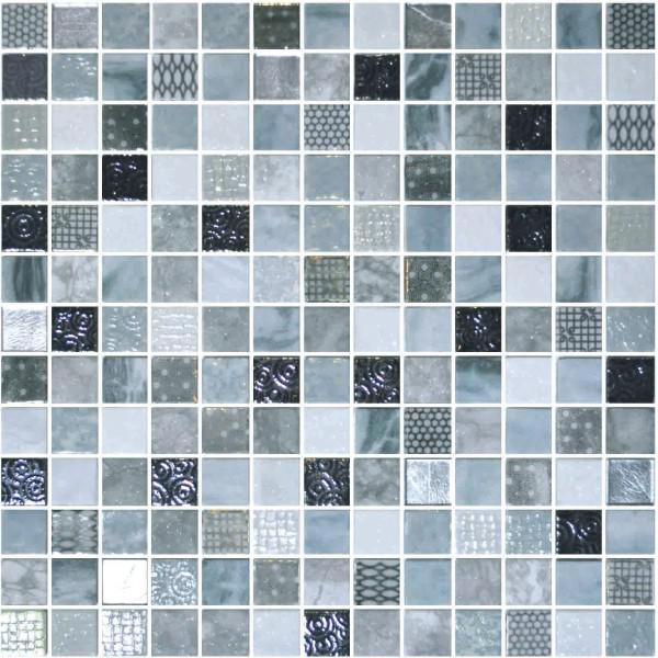 Onix Cosmic Blends Lucca 1x1  Glossy Glass  Mosaic