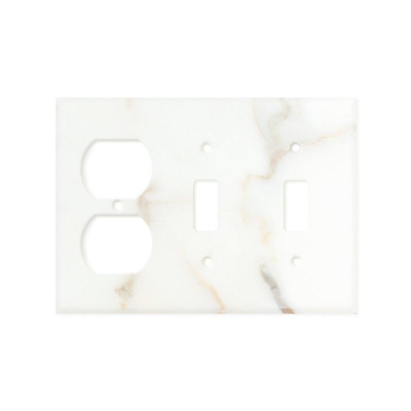 Calacatta Gold Double Toggle Duplex Marble Tile 4.5x6.5 Polished