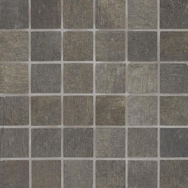 Reside Black 2x2, Matte, Square, Color-Body-Porcelain, Mosaic