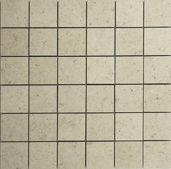 Limestone Gascogne Beige 2x2 Square Honed   Mosaic (Discontinued)