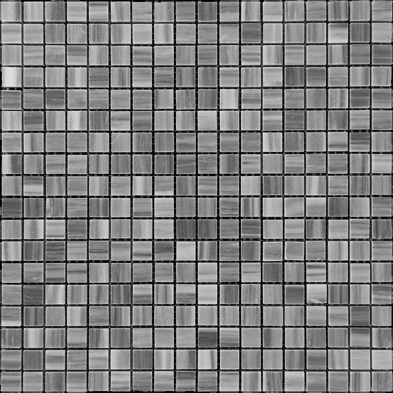 Marble Bardiglio 0.63x0.63 Square Polished   Mosaic