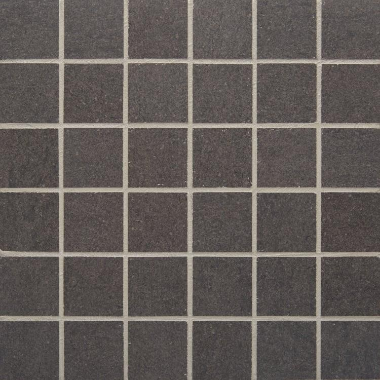 Pave Nero 2x2, Smooth, Square, Color-Body-Porcelain, Mosaic