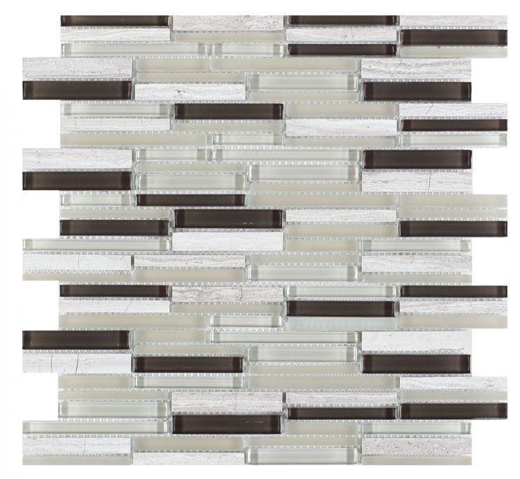 Linear Glass Inga Haze Staggered    Mosaic