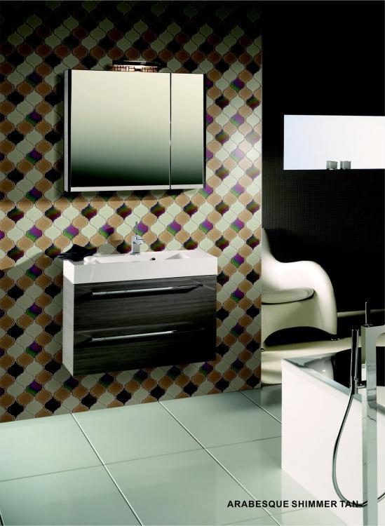 Arabesque Shimmer Tan Glass  Mosaic