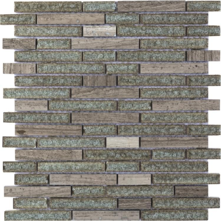 Jewel Misty Linear Crackle Glass  Mosaic