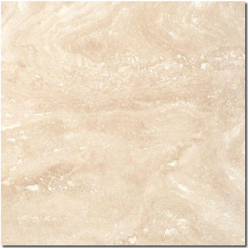 Ivory Travertine Tile 12x12 Honed, Filled