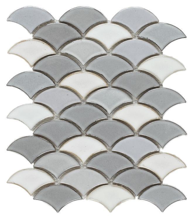 Dragon Scale Loft Porcelain  Mosaic