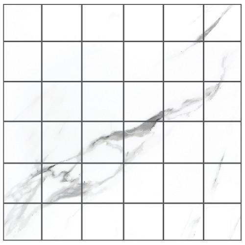Statuario Extra White 2x2  Polished Porcelain  Mosaic (Discontinued)