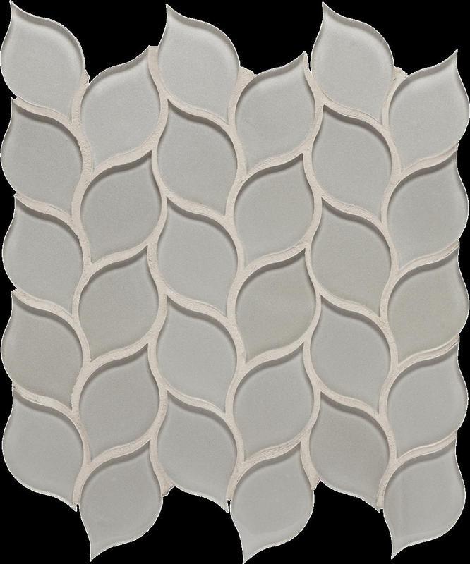 Dunes Pewter Glass, Leaf, Mosaic