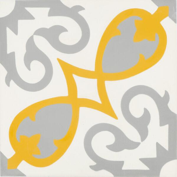 Agadir Grey Yellow 8x8, Unpolished, Gray, Square, Cement, Tile
