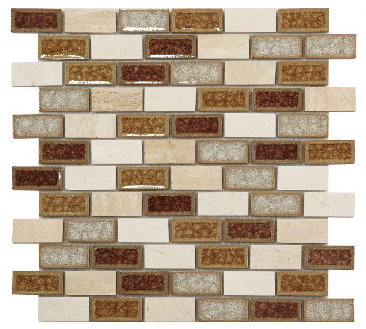 Jewel Swiss Wine Brick  Glass  Mosaic