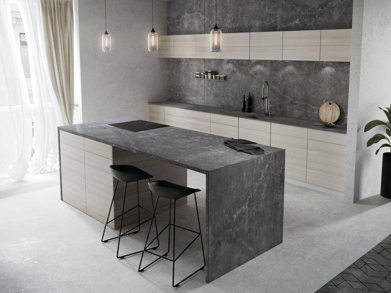 Group 2 Industrial Collection Laos Standard Size 57x126, 20 mm, Smooth Matte, Dark Grey, Porcelain, Slab