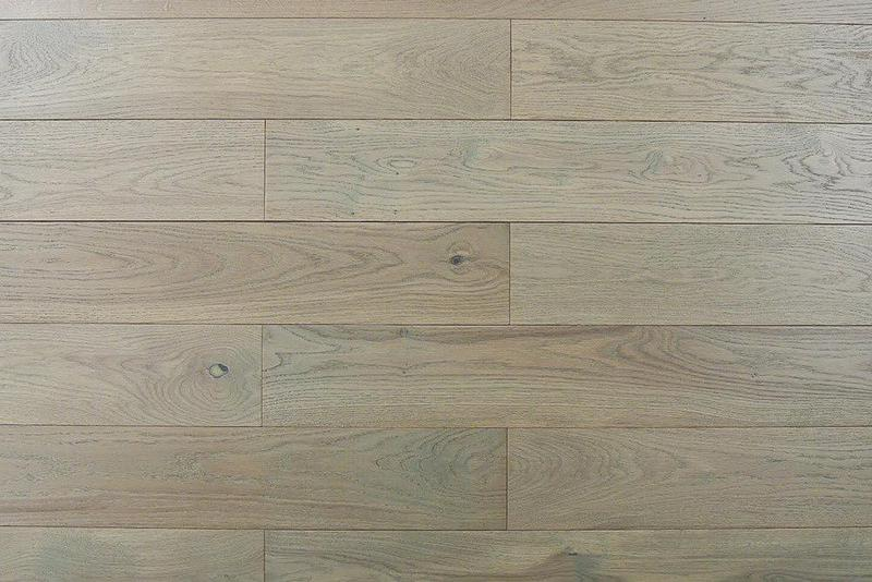 Jubilee Taupe 5xfree length, Wire-Brushed, Gray, White-Oak, Solid-Hardwood, Wood