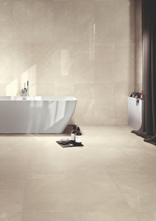 Gemme Breccia Sabbia Lux Polished, Glazed 12x24 Porcelain  Tile