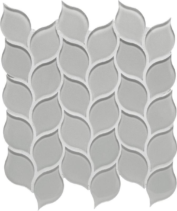 Dunes Denim Glass, Leaf, Mosaic