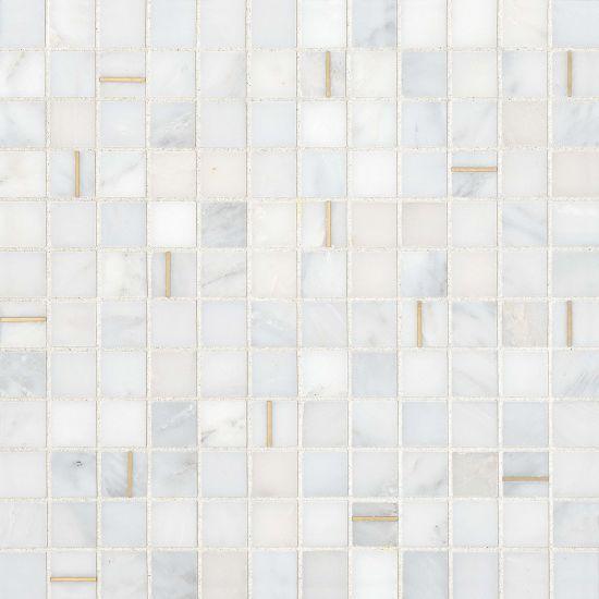 Ferrara Bianco 1x1 Square Honed Natural Stone  Mosaic