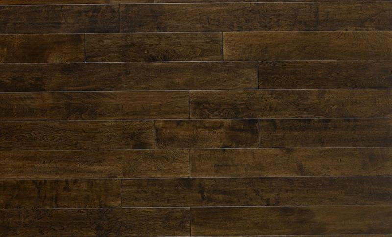 Engineered Selections Mocha 5xfree length, Hand-Scraped, Brown, Birch, Engineered-Wood, (Discontinued)